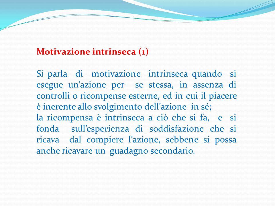 Motivazione intrinseca (1)