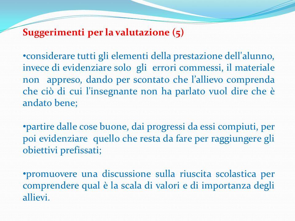 Suggerimenti per la valutazione (5)