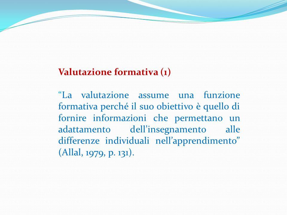 Valutazione formativa (1)