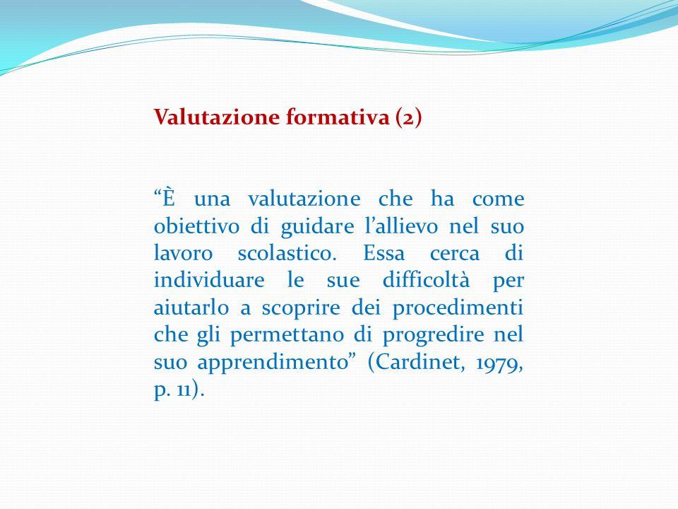 Valutazione formativa (2)