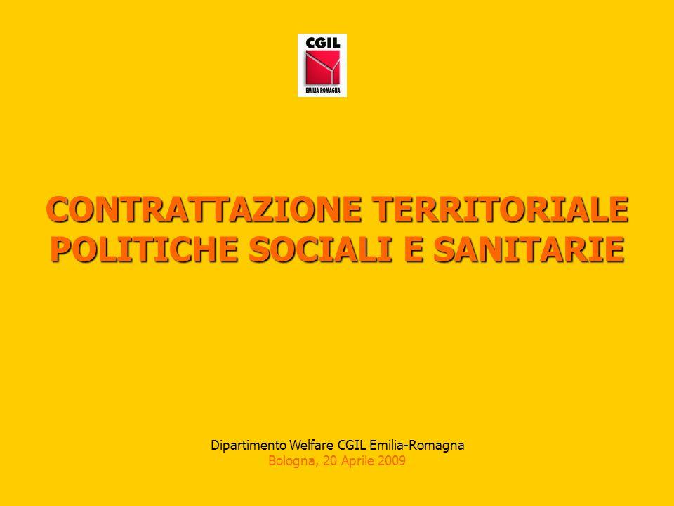 CONTRATTAZIONE TERRITORIALE POLITICHE SOCIALI E SANITARIE