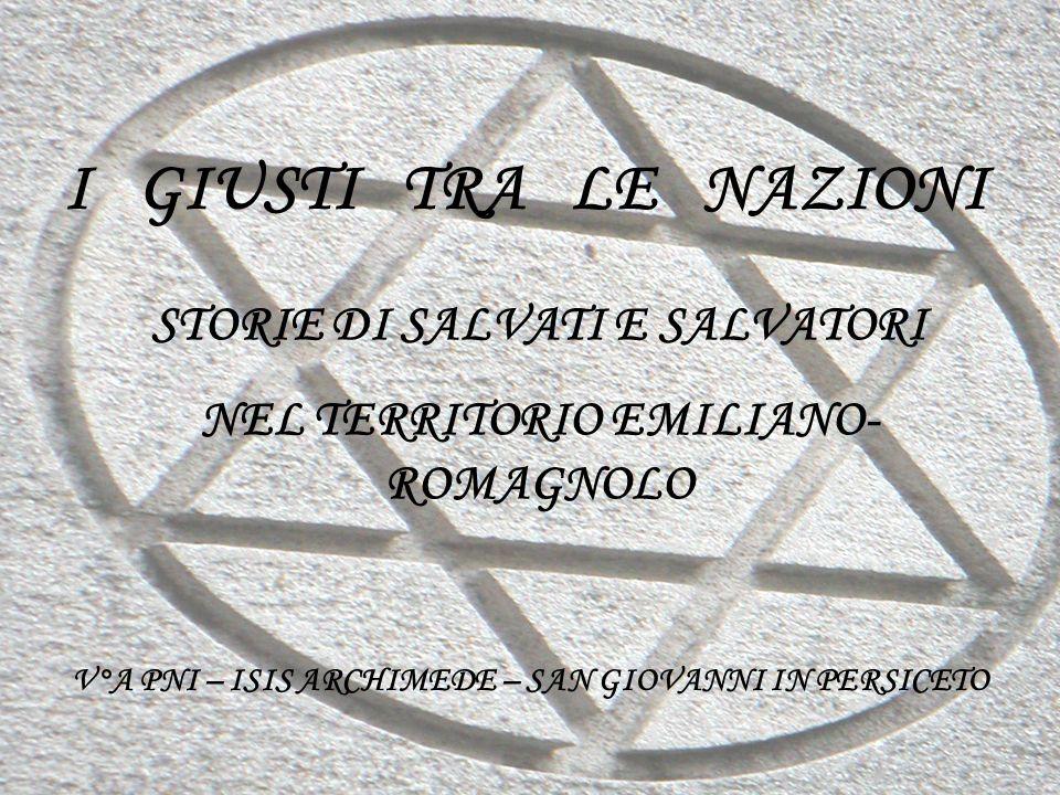 I GIUSTI TRA LE NAZIONI STORIE DI SALVATI E SALVATORI