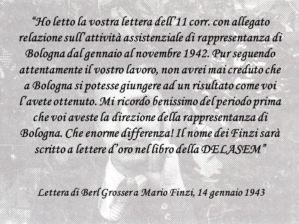 Lettera di Berl Grosser a Mario Finzi, 14 gennaio 1943
