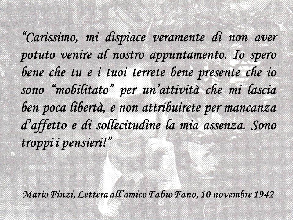 Mario Finzi, Lettera all'amico Fabio Fano, 10 novembre 1942