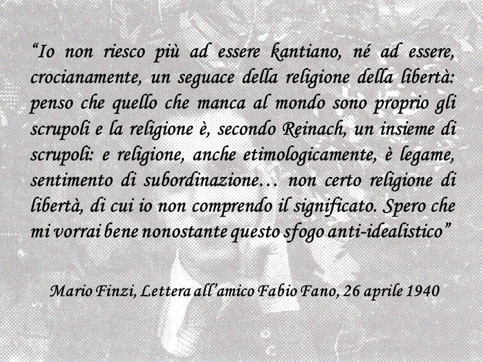 Mario Finzi, Lettera all'amico Fabio Fano, 26 aprile 1940