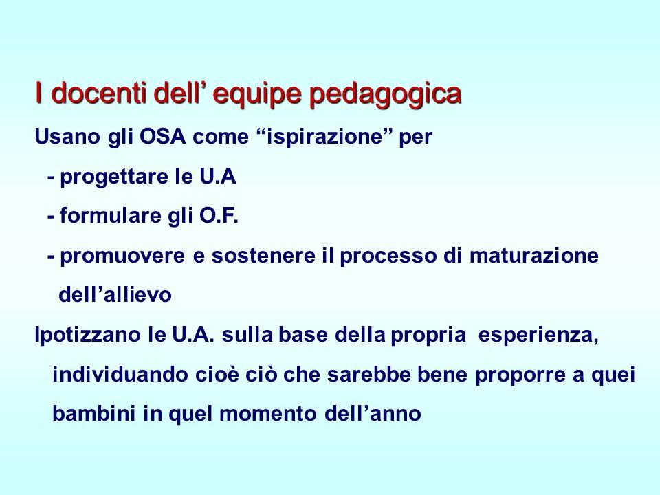 I docenti dell' equipe pedagogica