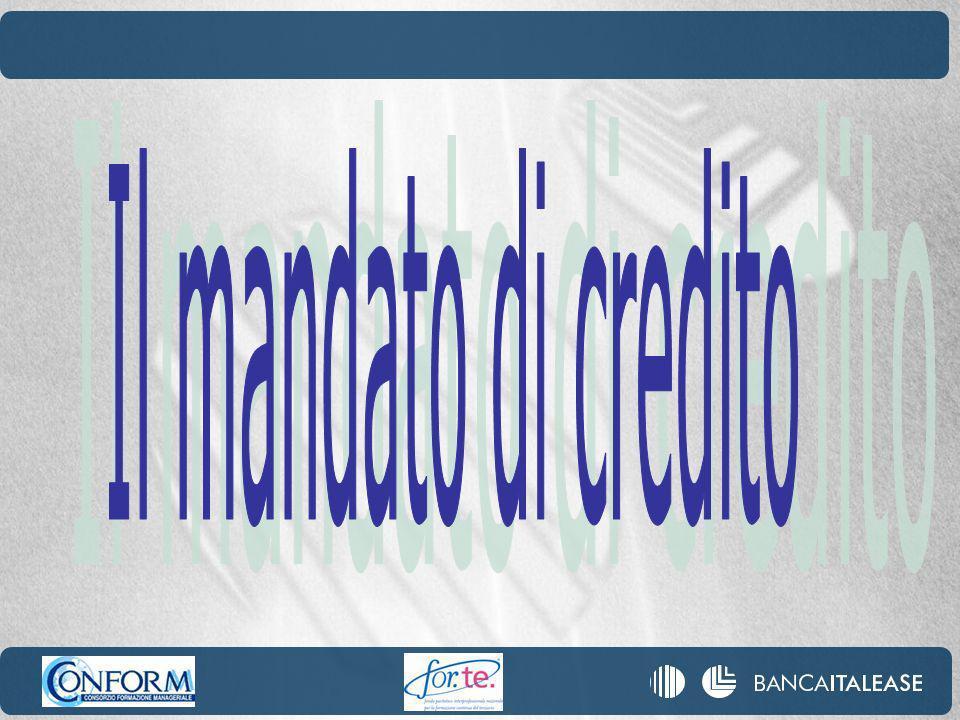 Il mandato di credito