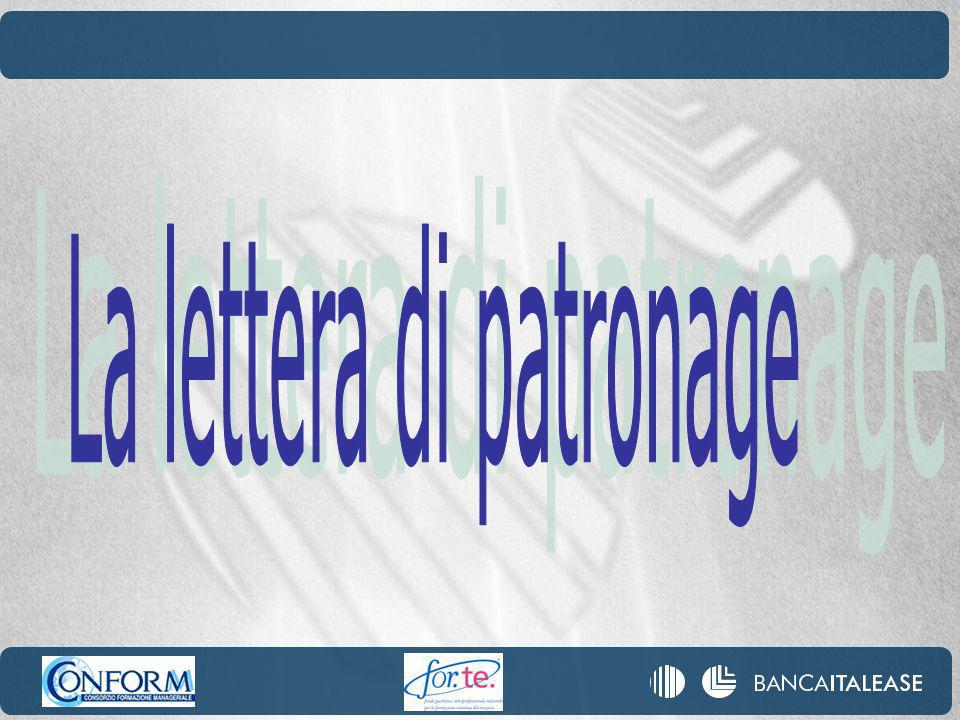 La lettera di patronage