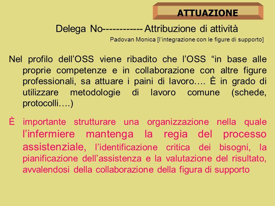 Delega No------------ Attribuzione di attività