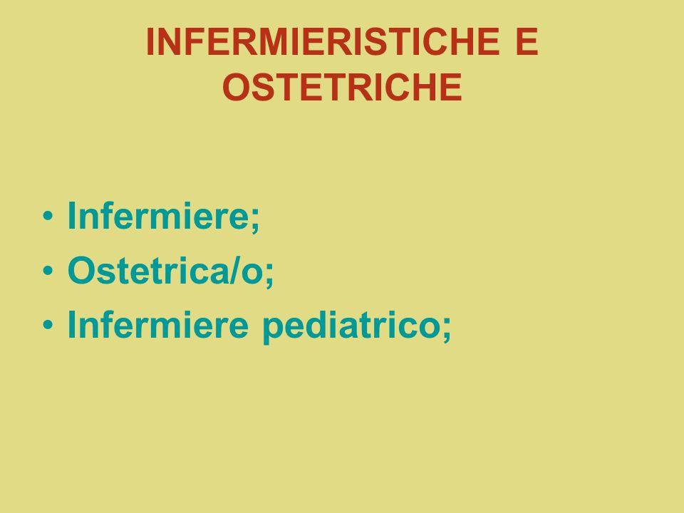 INFERMIERISTICHE E OSTETRICHE