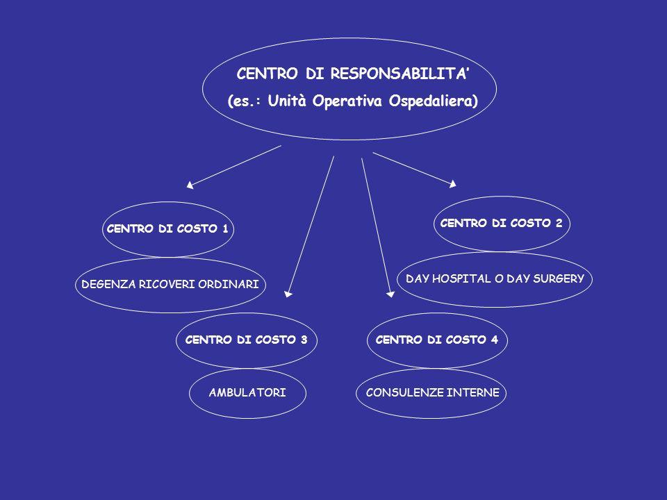 CENTRO DI RESPONSABILITA' (es.: Unità Operativa Ospedaliera)