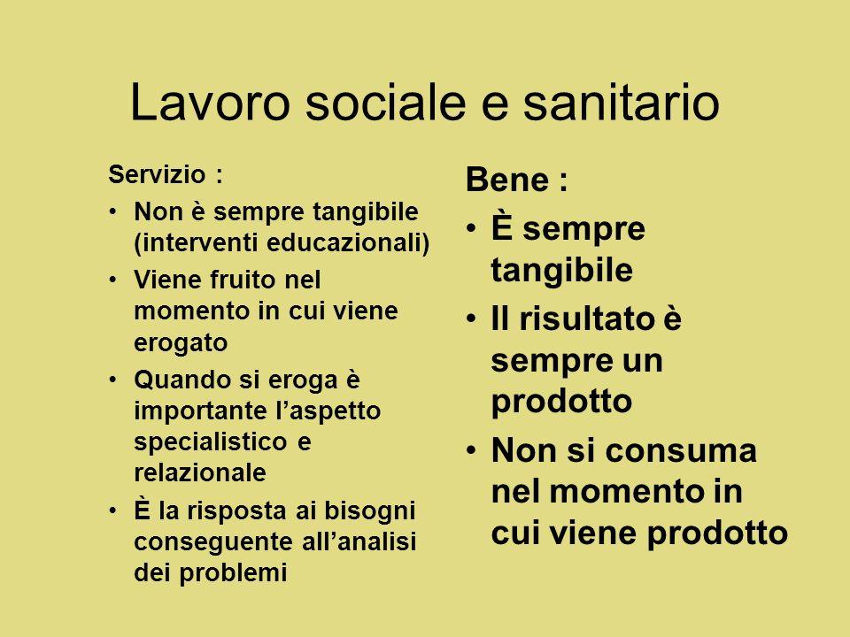 Lavoro sociale e sanitario