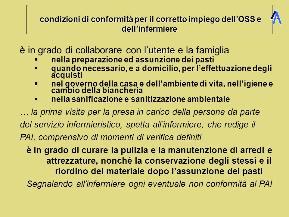 Sanificazione ambientale oss