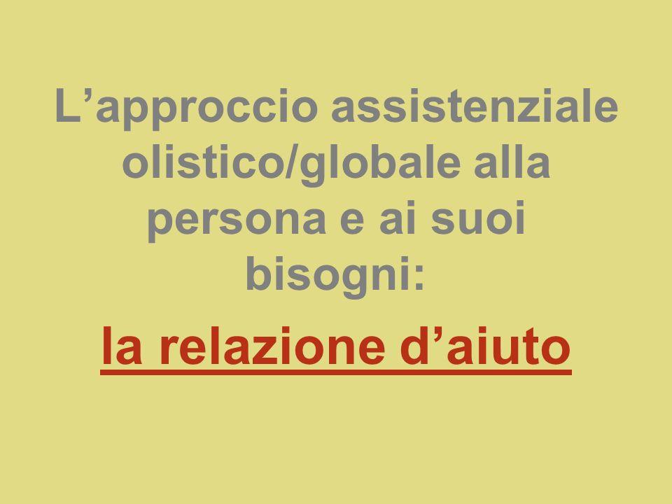 L'approccio assistenziale olistico/globale alla persona e ai suoi bisogni: