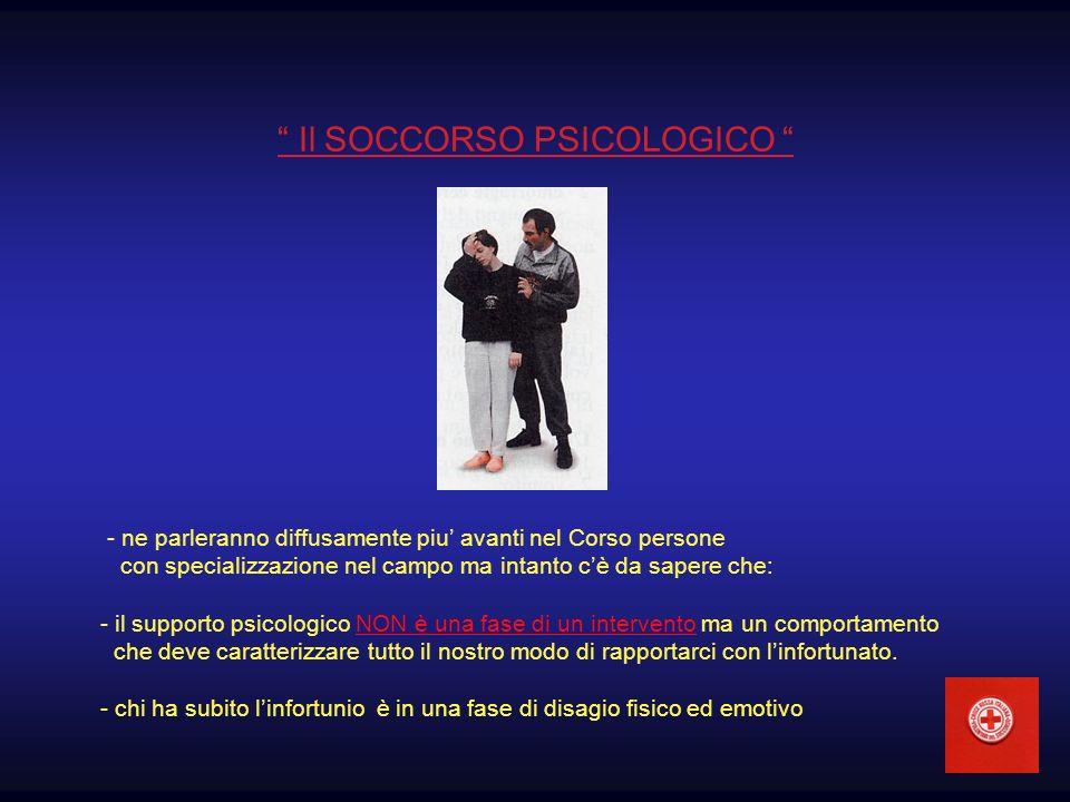 Il SOCCORSO PSICOLOGICO