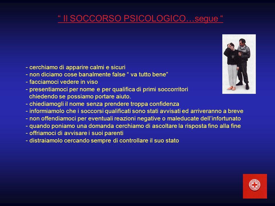 Il SOCCORSO PSICOLOGICO…segue