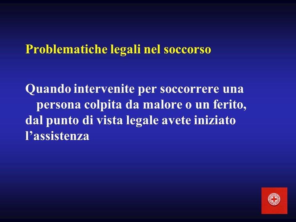 Problematiche legali nel soccorso