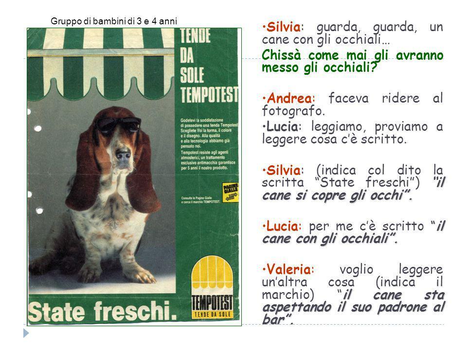 Silvia: guarda, guarda, un cane con gli occhiali…