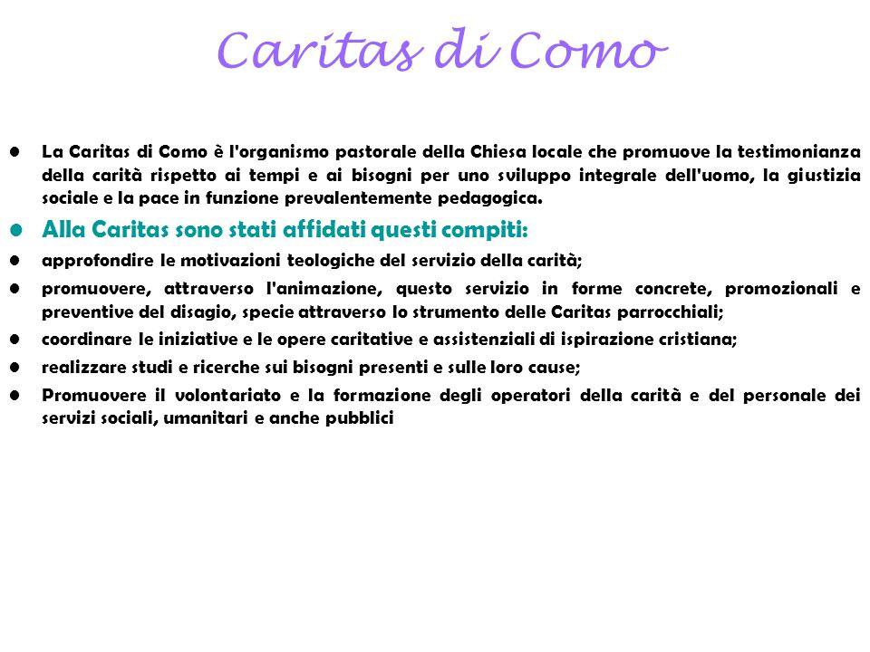 Caritas di Como Alla Caritas sono stati affidati questi compiti:
