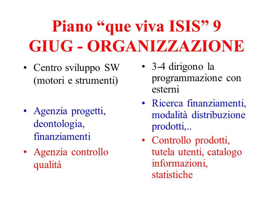 Piano que viva ISIS 9 GIUG - ORGANIZZAZIONE