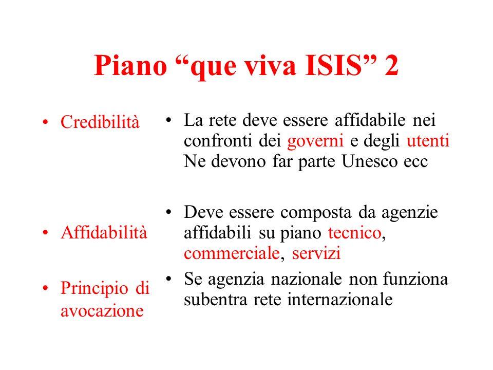 Piano que viva ISIS 2 Credibilità Affidabilità
