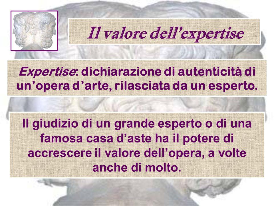 Il valore dell'expertise