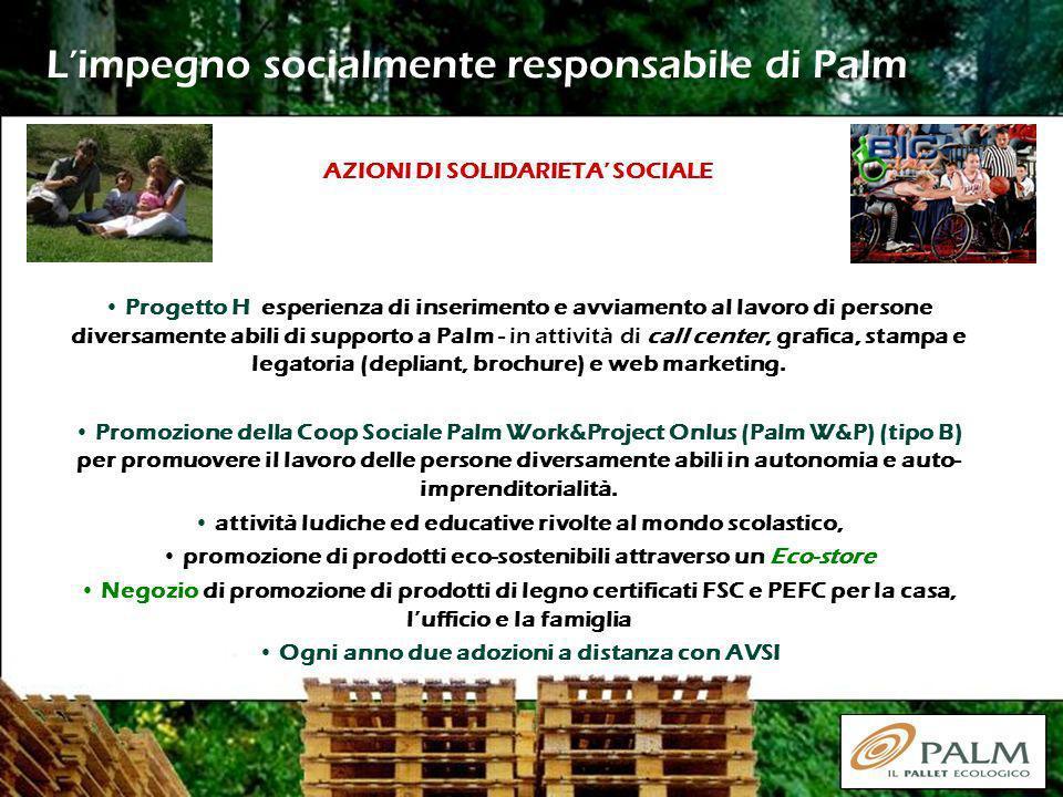 L'impegno socialmente responsabile di Palm