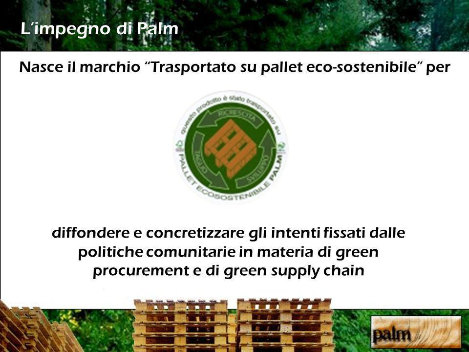 Nasce il marchio Trasportato su pallet eco-sostenibile per