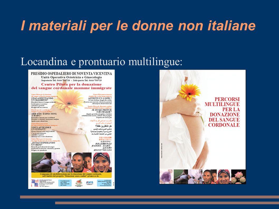 I materiali per le donne non italiane