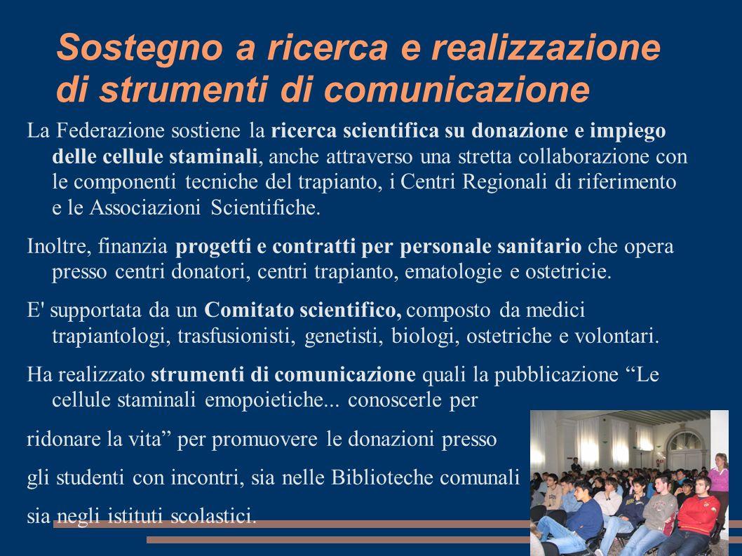 Sostegno a ricerca e realizzazione di strumenti di comunicazione