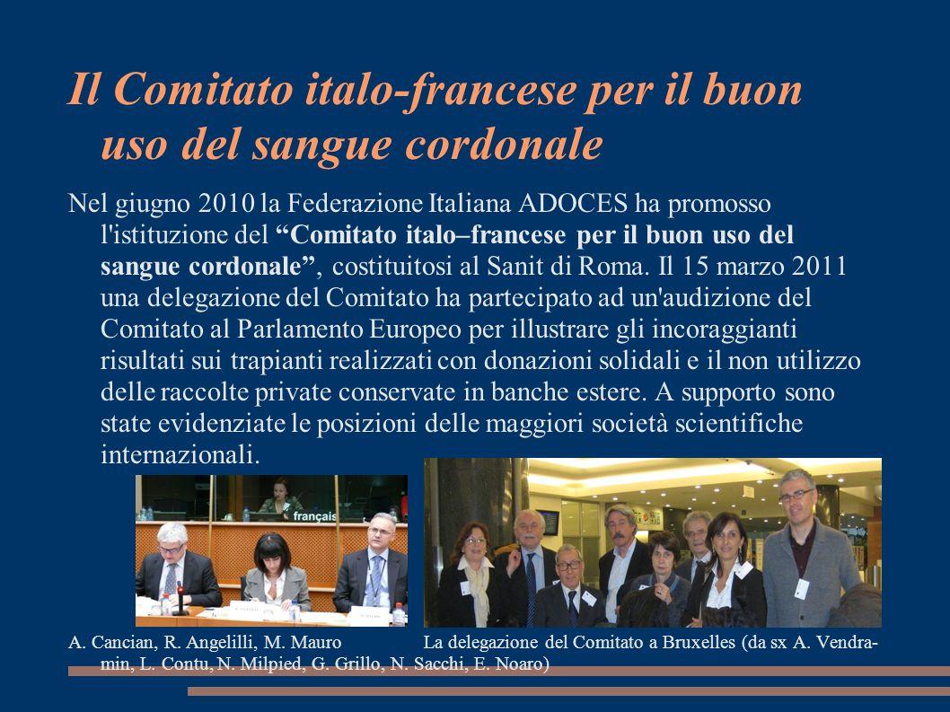 Il Comitato italo-francese per il buon uso del sangue cordonale