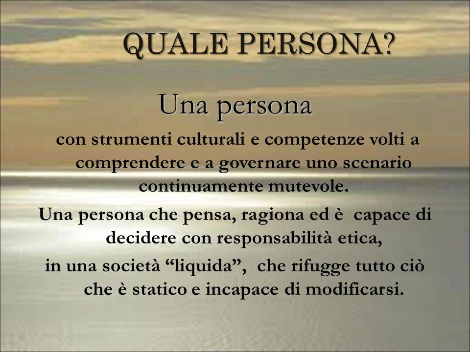 Una persona QUALE PERSONA