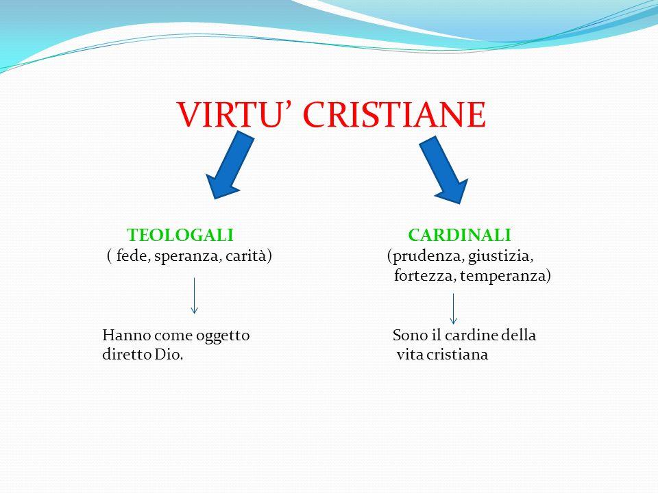VIRTU' CRISTIANE TEOLOGALI CARDINALI