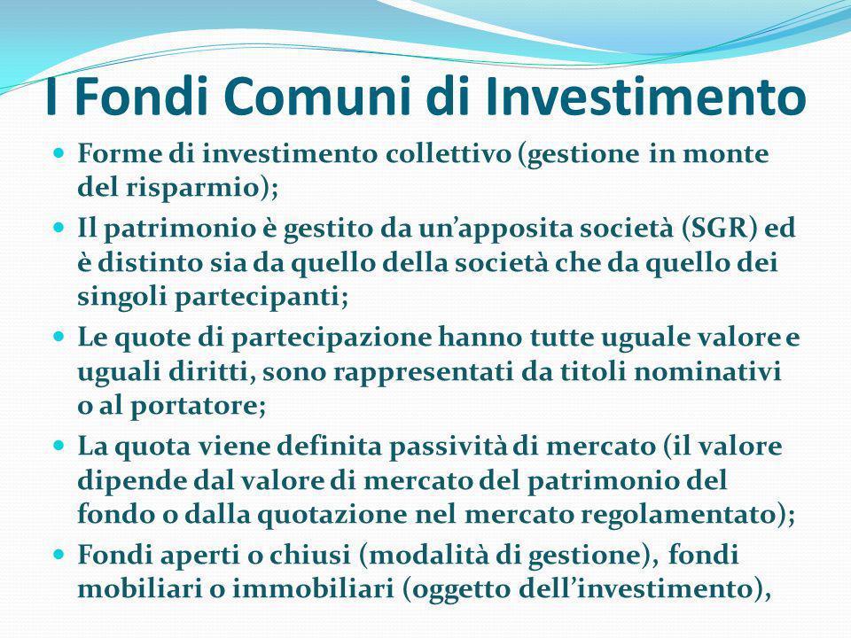 I Fondi Comuni di Investimento