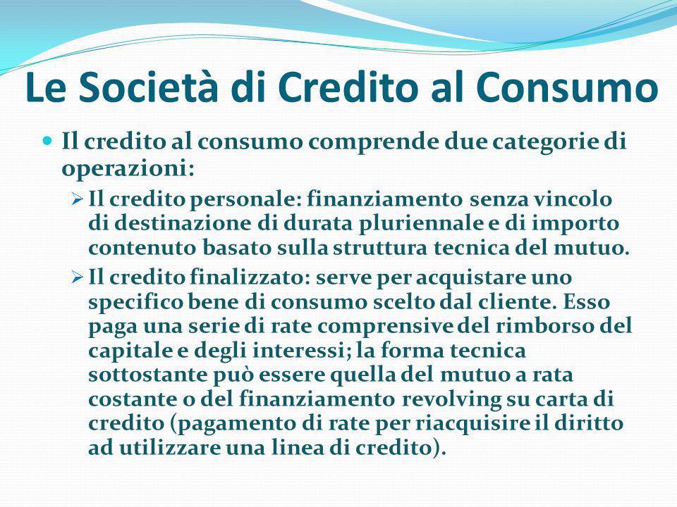 Le Società di Credito al Consumo
