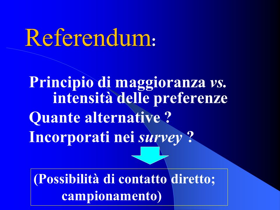 Referendum: Principio di maggioranza vs. intensità delle preferenze