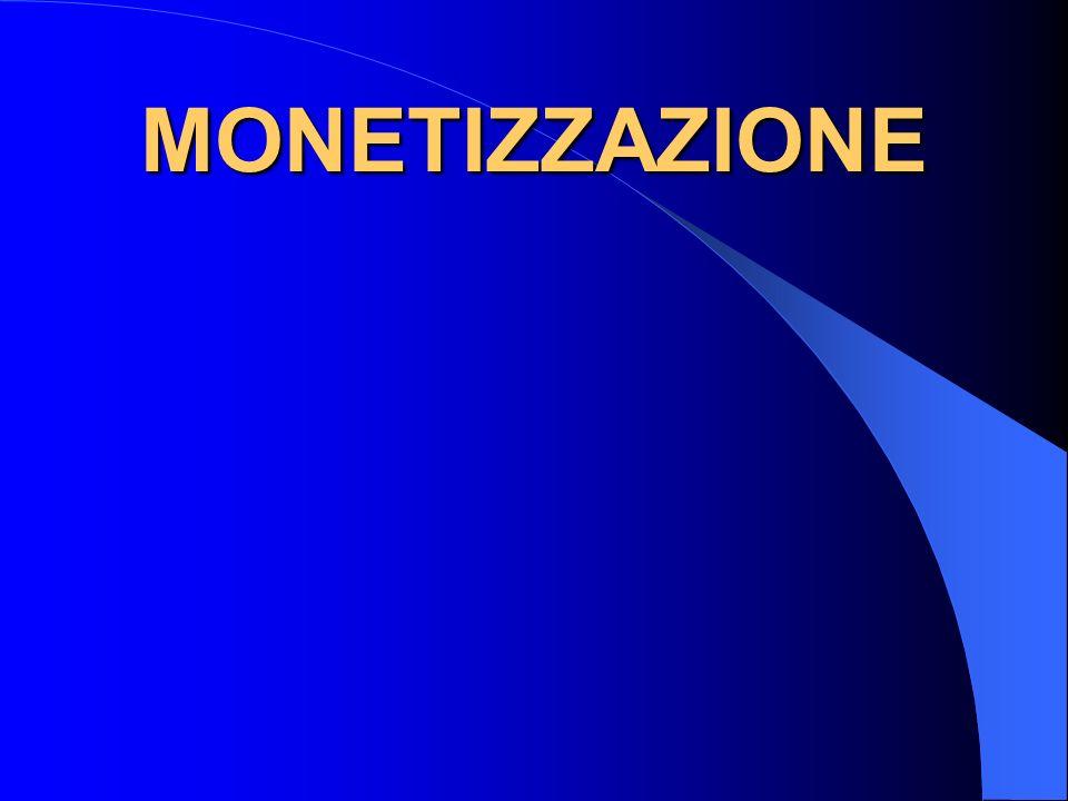 MONETIZZAZIONE