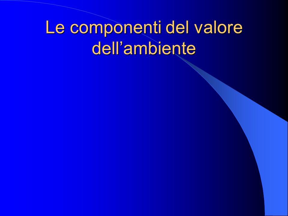Le componenti del valore dell'ambiente