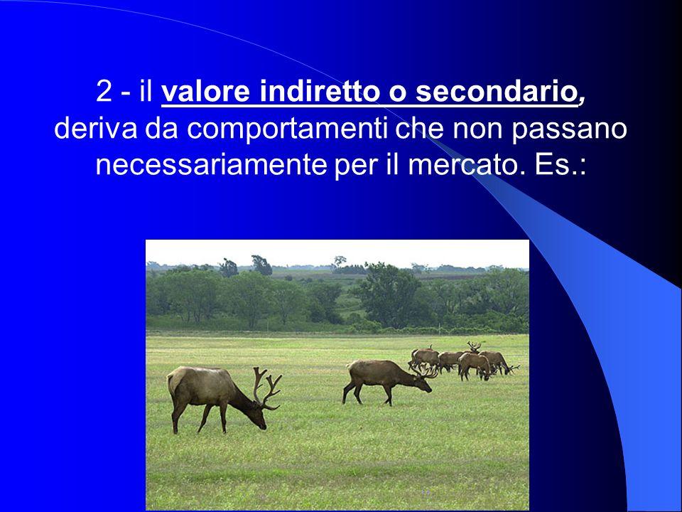 2 - il valore indiretto o secondario,