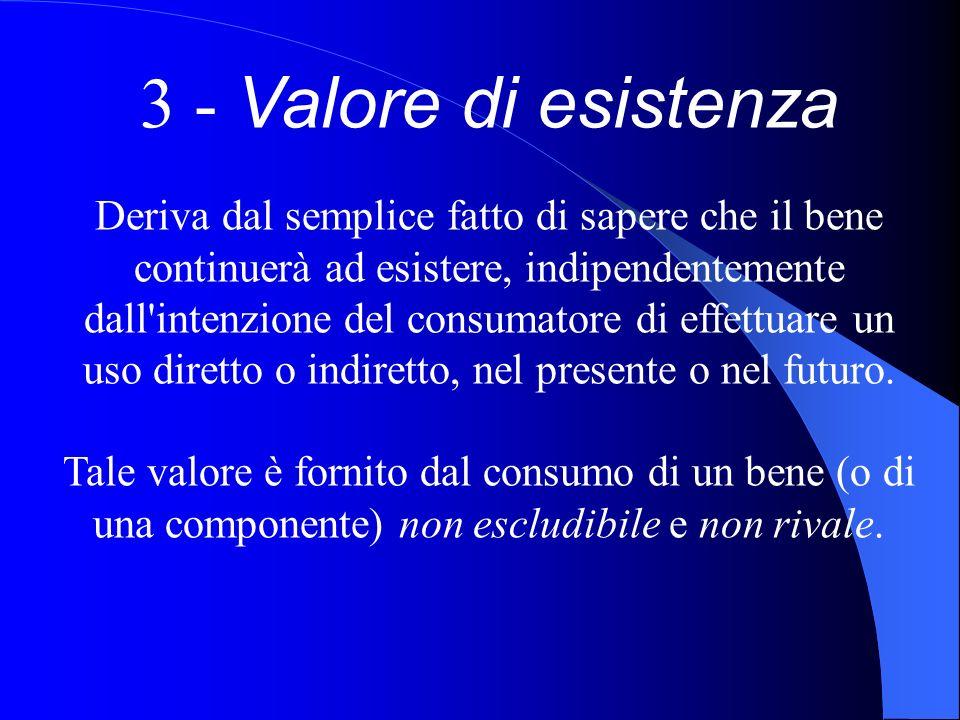 3 - Valore di esistenza