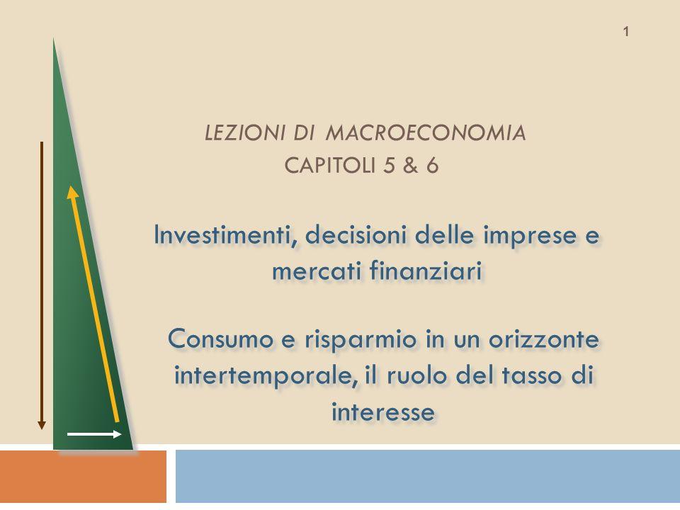 LEZIONI DI MACROECONOMIA CAPITOLI 5 & 6