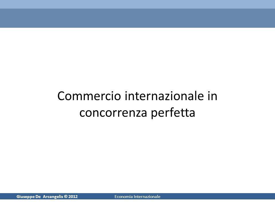 Commercio internazionale in concorrenza perfetta