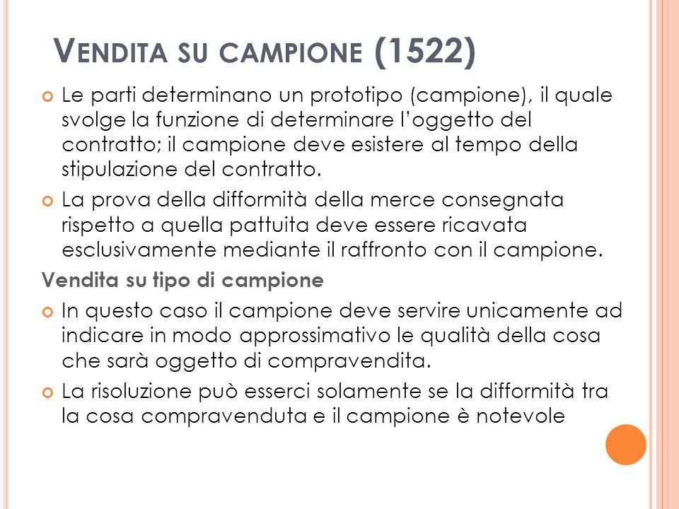Vendita su campione (1522)