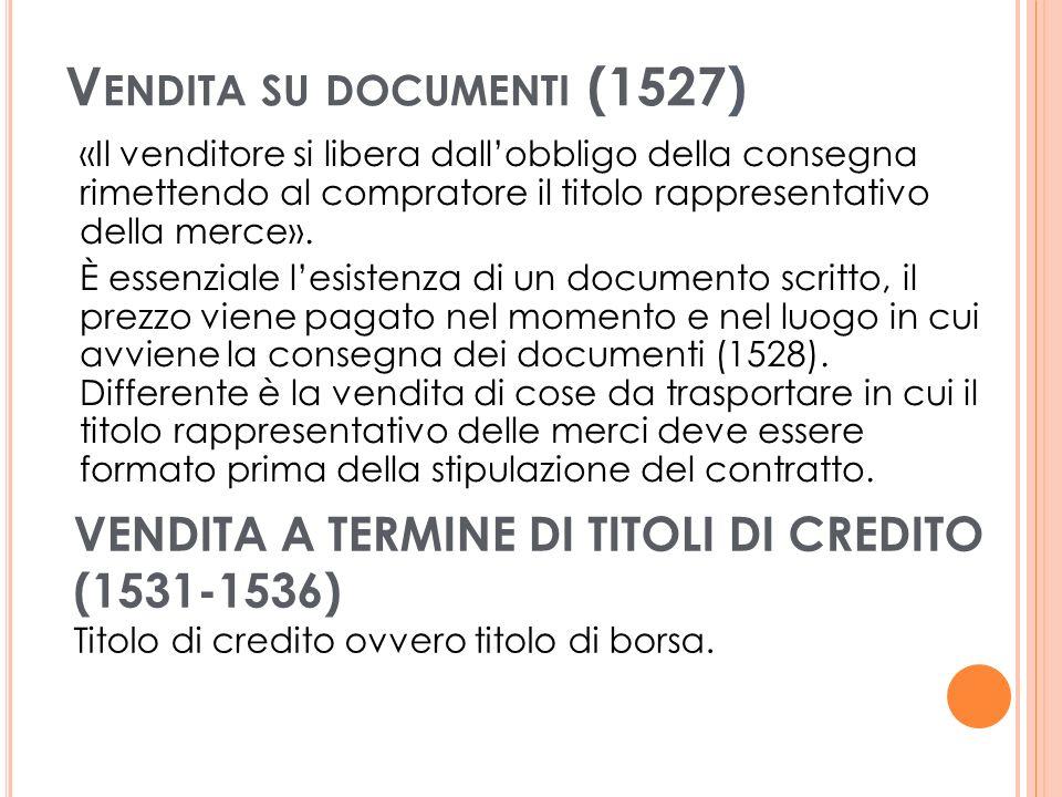 Vendita su documenti (1527)