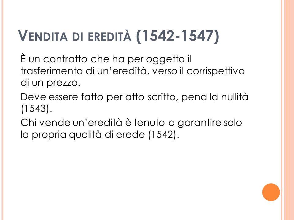 Vendita di eredità (1542-1547)