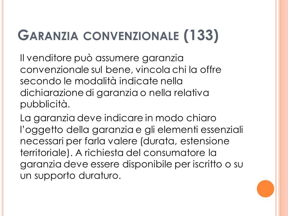 Garanzia convenzionale (133)