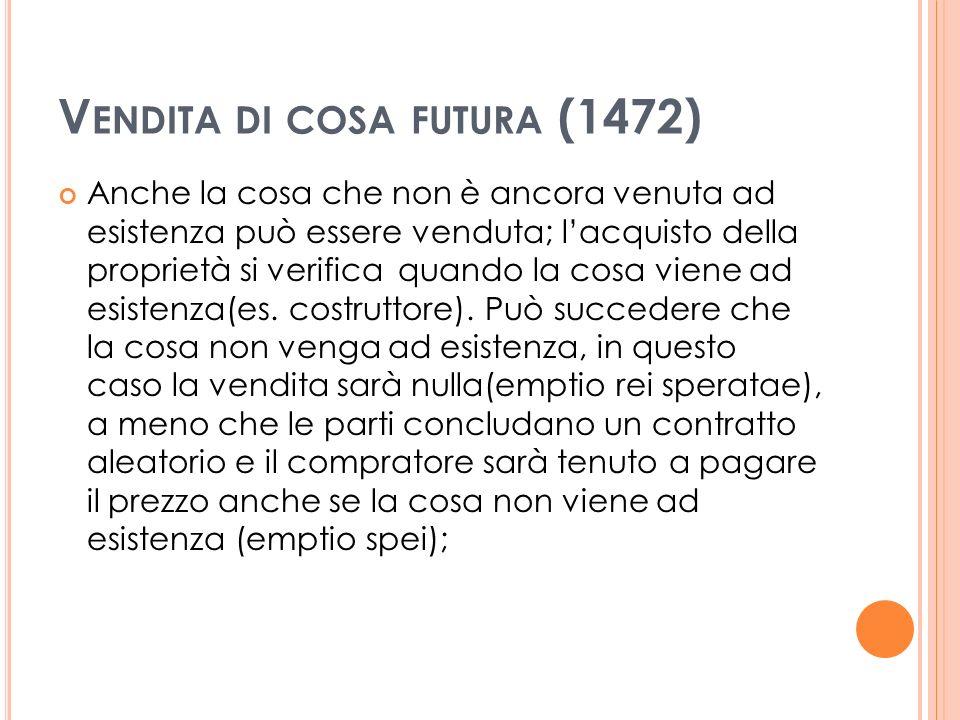 Vendita di cosa futura (1472)