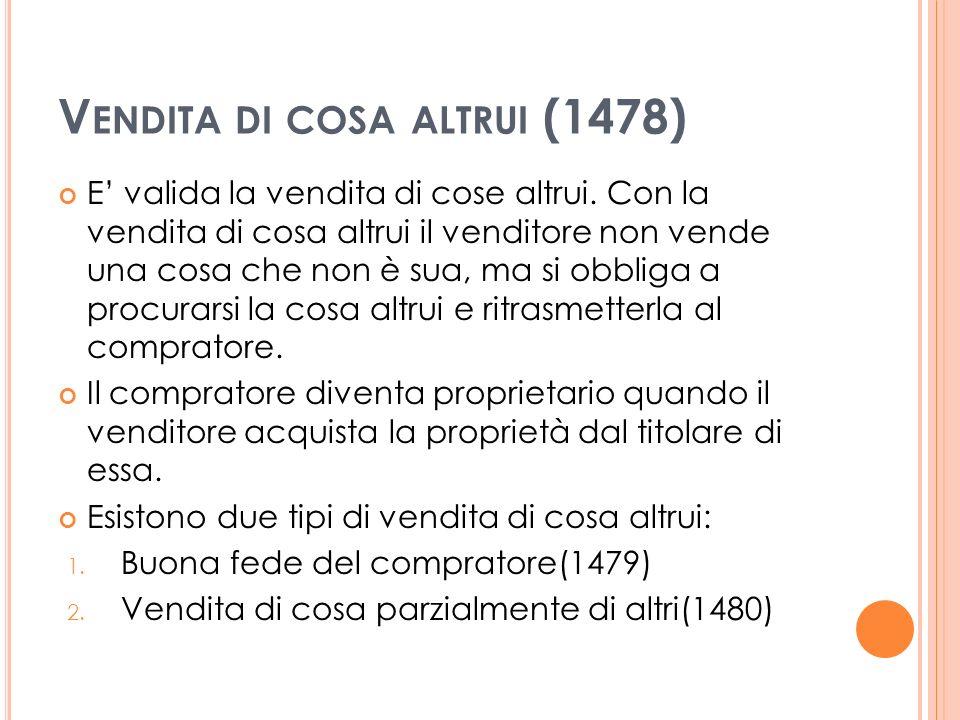 Vendita di cosa altrui (1478)
