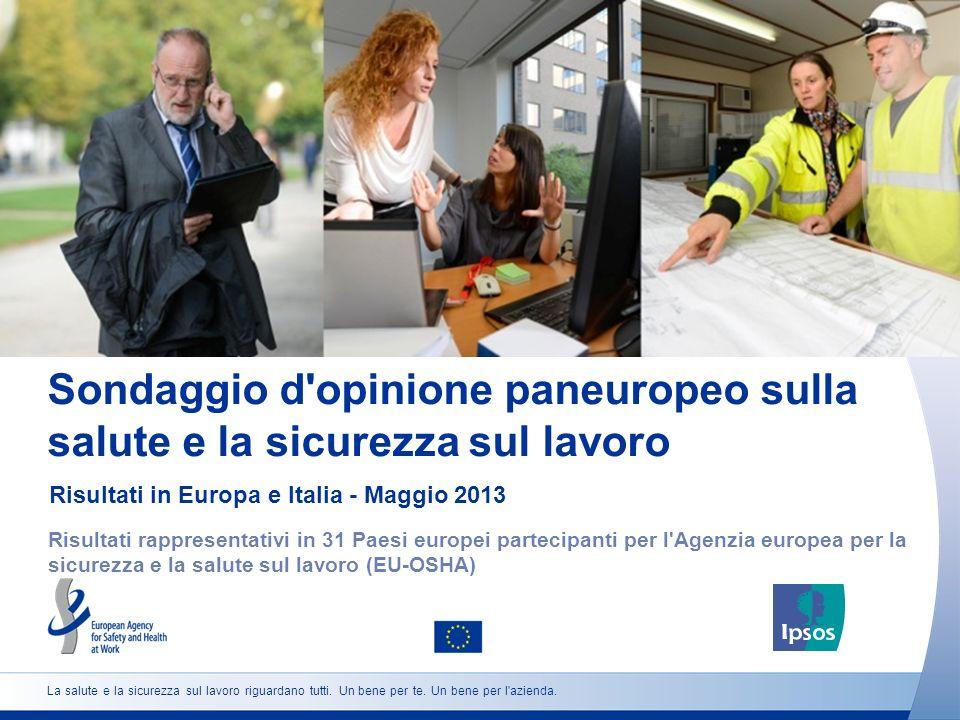 Sondaggio d opinione paneuropeo sulla salute e la sicurezza sul lavoro