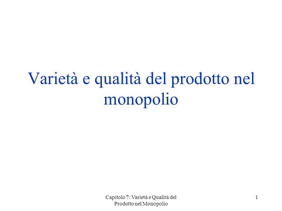 Varietà e qualità del prodotto nel monopolio